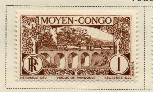 Middle Congo 1933 Early Issue Fine Mint Hinged 1c. 324740