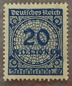 German Empire,20 Mill, parcel post,OG,MNH