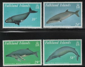 Falkland Islands 1989 Whales set Sc# 501-04 NH