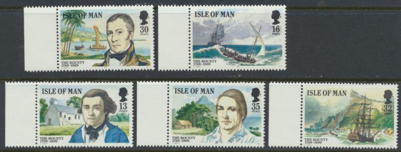 Isle of Man - SG 408-414 ( ex booklet stamps) SC# 389-393 MUH  Mutiny on the ...