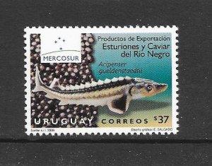 FISH - URUGUAY #2271  STURGEON   MNH