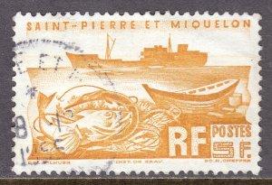 St. Pierre and Miquelon - Scott #337 - Used - Crease - SCV $2.50