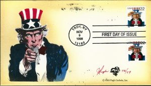 Beautiful Pugh Painted Uncle Sam FDC -only 79 created...
