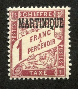 Martinique, Scott #J23, Mint, Never Hinged