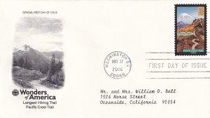 2006, Longest Hiking Trail-Pacific Crest Trail, PCS, FDC (E11361)