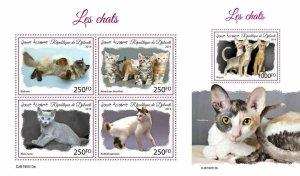 Z08 IMPERF DJB190513ab DJIBOUTI 2019 Cats MNH ** Postfrisch
