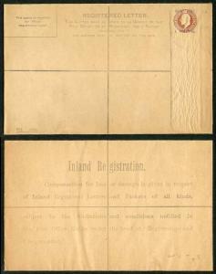 KEVII 3d Brown Registered envelope Size H opt 1 Piastre