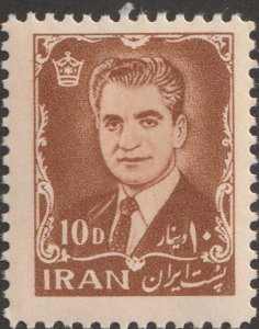 Persian/Iran stamp, Scott# 1332, MNH, 10d, chestnut color, 1965 year, #K-2