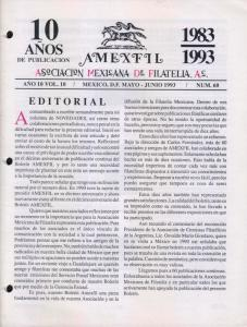 G)1993 MEXICO, AMEXFIL MAGAZINE, SPECIALIZED IN MEXICAN STAM