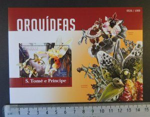 St Thomas 2015 orchids flowers s/sheet mnh
