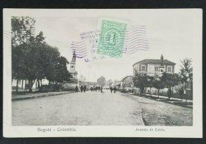 1914 Bogota Colombia Copenhagen Denmark Colon Avenue RPPC Postcard Cover