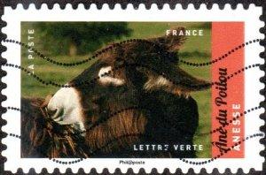 France 5185 - Used - (73c) Female Donkey (2017) (cv $1.10)