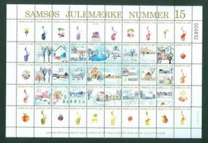 Denmark. Christmas Sheet Local Samso  # 15. 1993. Town: Osterby. Fruit,Berries,