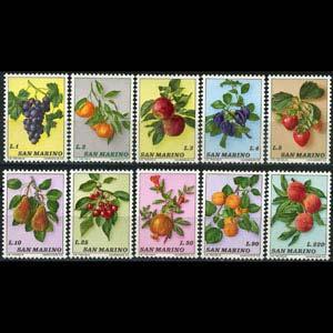 San Marino MNH 804-13 Fruits 1973