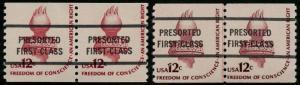 #1816a BUREAU PRECANCEL LINE PAIR OG NH WITH (2x) PSAG CERTS CAT $2250+ WLM1863