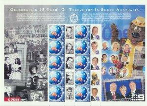 South Australia 2005 50c 45 Years Television Souvenir Stamp Sheet SSS MUH**