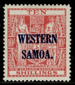 SAMOA GVI SG209, 10s carmine-lake, M MINT. Cat £20.