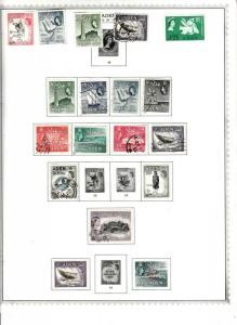 ADEN 1953-59  MINKUS ALBUM PAGE  VALUES/ MINT/USED TO 20/-