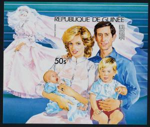 Guinea 938 imperf MNH Prince Charles, Princess Diana, Princes Henry & William