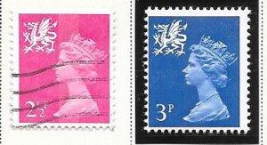 Great Britain-Wales & Monmouthshire # WMMH1,2 (MNH&U) $0.55