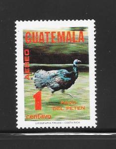 BIRDS - GUATEMALA #C675-WILD TURKEY   MNH