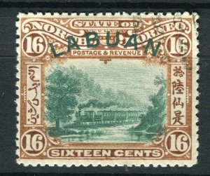 NORTH BORNEO LABUAN; 1890s classic Pictorial issue fine used 16c. value