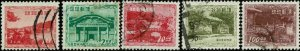 RYUKYU ISLANDS #19//26 1952-53 1y TO 100y COMMEMORATIVE ISSUES-USED-HANDSTAMPS