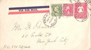 United States California Palo Alto 1931 numeral duplex  1c and 2c Washington ...