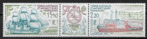 1990 FRENCH SOUTHERN & ANTARCTIC TERRITORY  C112a with tab L'Astrolabe MNH