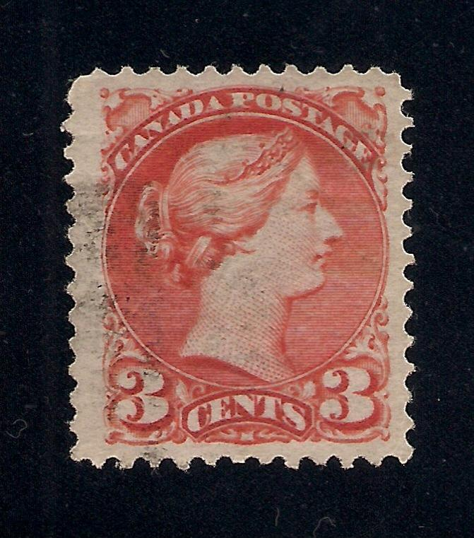 Canada #41a Rose Carmine - 3 Cent - Used