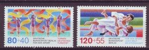 J24989 JLstamps 1987 germany berlin set mnh #9nb243-4 sports