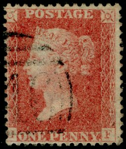 SG38, 1d pale red PLATE 39, LC14, FINE USED. Cat £35.