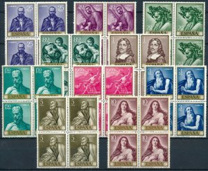 [30] Spain 1963 STAMP DAY Good set BLOCKS of stamps very fine MNH value $161