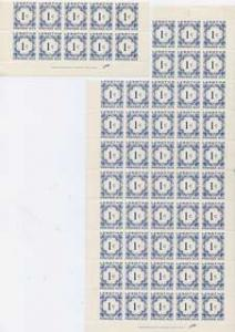 Lesotho 1967 Postage Dues 1c blue unmounted mint pane of ...