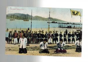 1907 Hong Kong to USA Picture Postcard Cover Prisoners Being Executed