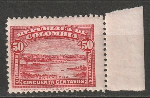 Colombia 1917 Sc 346 MNH** crease