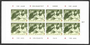 Belgium # B745a  Red Cross booklets - both languages  (2)  Mint NH
