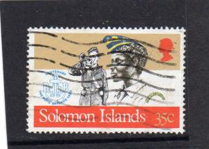 British Solomon Islands 1983 Anniv of Boys Brigade used