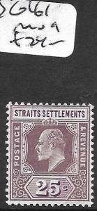 MALAYA STRAITS SETTLEMENTS (PP3110B) KE  25C  SG 161   MOG