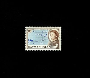 CAYMAN IS - 1962 - QE II - MAP OF ISLANDS - # 156 - SCAN B - MINT - MNH SINGLE!