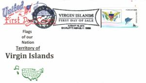 #4326 FOON: Virgin Islands State Flag Artopages FDC