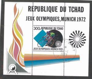 CHAD SOUVENIR SHEET Sc# 236 Used VF / 1972 Olympic Games - FOS51