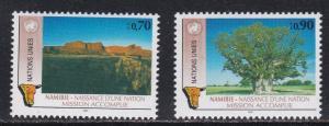 United Nations - Geneva # 199-200, Namibian Independence, NH, 1/2 Cat