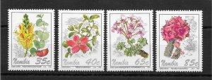 Namibia MNH 762-5 Flowers 1994 SCV 2.00