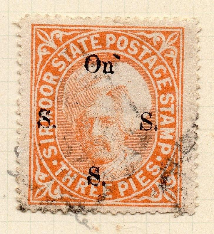 Indian States Sirmoor 1885-88 Early Issue Fine Used 3p. OFFICIAL 194701