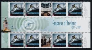 Canada 2745 Gutter Strip MNH Empress of Ireland, Ship