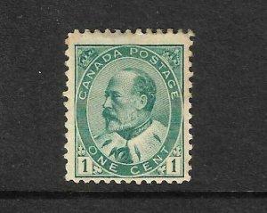 CANADA 1903-08  1c KEVII   MH  Sc 89