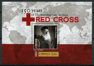 Liberia Red Cross Stamps 2013 MNH Medical Henry Dunant Famous People 1v S/S