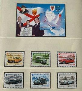 JE155) Jersey 2005 Cars (6) + Peace M/S MUH. Price: $21.75