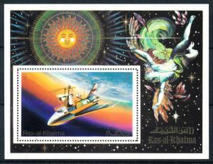 [94220] Ras al Khaimah 1972 Space Travel Weltraum Skylab Sheet MNH